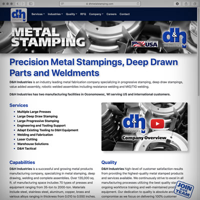 dhmetalstamping.com Website Releases Today