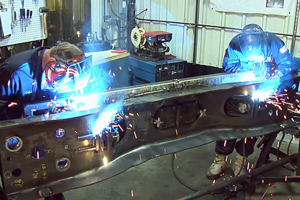 Large Scale Railroad Welding