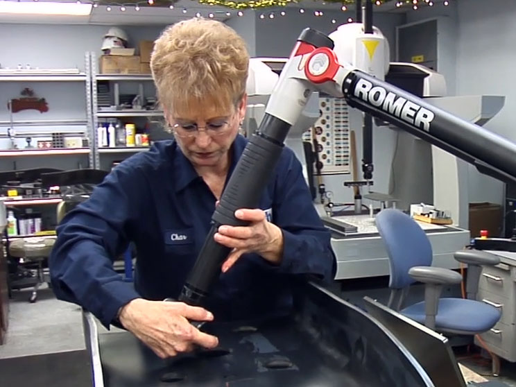 Romer Arm being used to test larger formed parts
