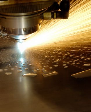 Laser cutting p and o steel